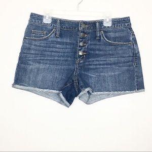 Universal Thread High Rise Shortie Jean Shorts 2